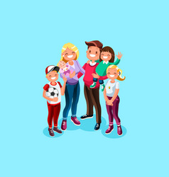 Family book character vector