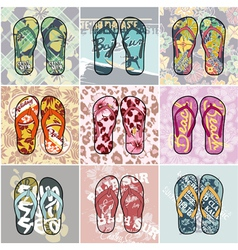 Flip Flop collection vector image