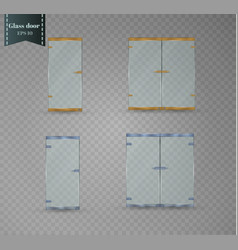 Glass door isolated on a transparent background vector
