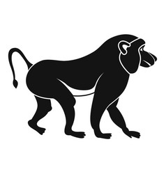 Japanese macaque icon simple style vector