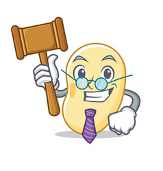 Judge soy bean mascot cartoon vector
