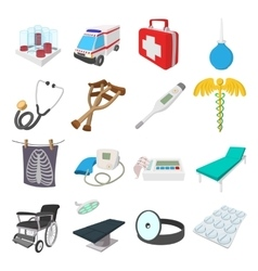 Medical isometric 3d icons vector image
