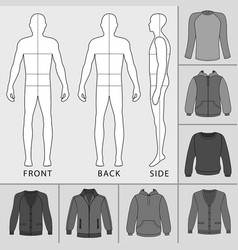 Men clothing set vector