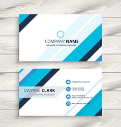 Modern business card with blue stripes vector