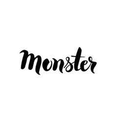 Monster black lettering vector