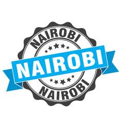 Nairobi round ribbon seal vector