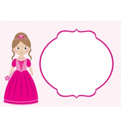 Princess Card vector image vector image