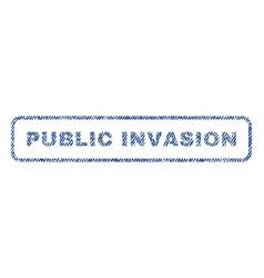 public invasion textile stamp vector image