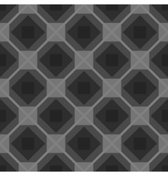 Seamless checkered black and white tablecloth vector