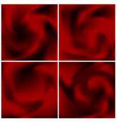 Set of red satin textures scarlet abstract vector