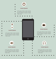 Smartphone infographic template vector image vector image