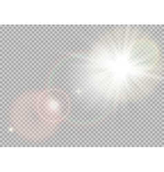 Sunlight special lens flare EPS 10 vector image vector image