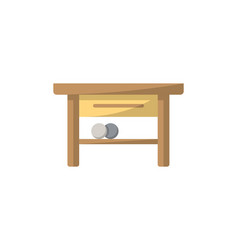 table isolated icon in flat style vector image vector image
