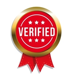 Verified badge with ribbon vector image vector image