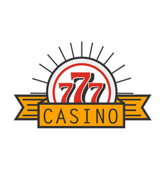 Casino 777 advertising banner isolated on white vector