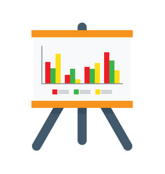 presentation chart icon vector image