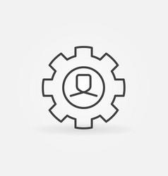man in gear line icon vector image