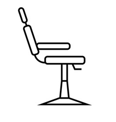 Barbers chair icon vector