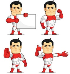 Superhero customizable mascot 6 vector