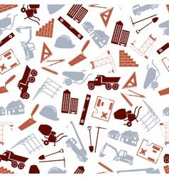 Construction icons seamless color pattern eps10 vector