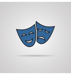 theater masks carnaval concept vector image