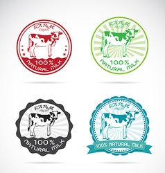 Set of an dairy cows label vector