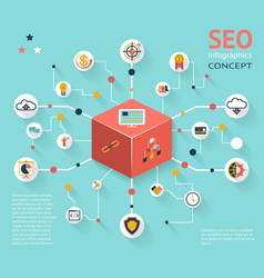 Seo infographic icon concept vector