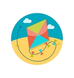 Kite flat icon vector