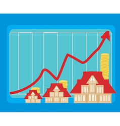 Houseing price go up vector
