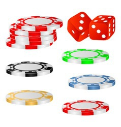 playing chips vector image