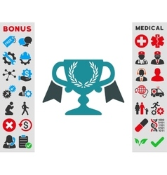 Award cup icon vector