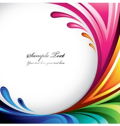 colorful splash background vector image