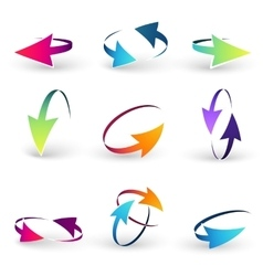 Volume set of cursors graphics vector