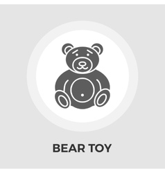 Bear toy flat icon vector