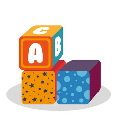 Blocks with alphabet toy vector