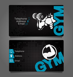 business card gym vector image vector image