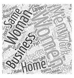 Business woman word cloud concept vector