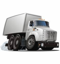 cartoon truck vector image vector image