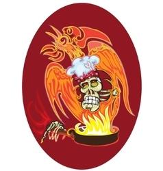 Chef - skull vector