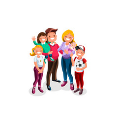 Family character people vector
