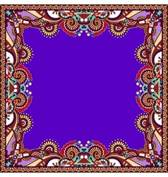 Floral vintage frame in violet colour vector