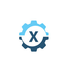 Gear solution logo initial x vector