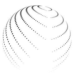 Halftone globe desing icon logo vector