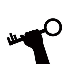 hand holds the key vector image