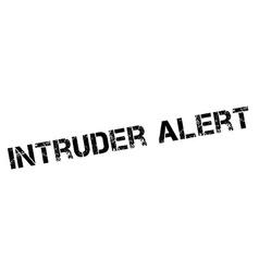 Intruder alert black stamp on white vector