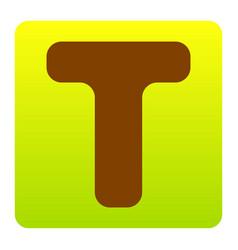letter t sign design template element vector image vector image