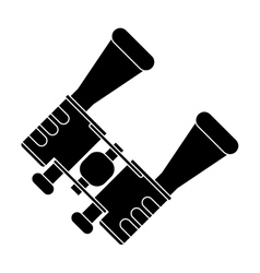 Pictogram binoculars accesorie tourism camping vector