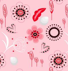 pink floral pattern vector image vector image