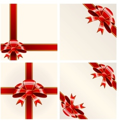Red bow with ribbons vector image