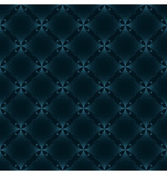 seamless vintage pattern blue vector image vector image